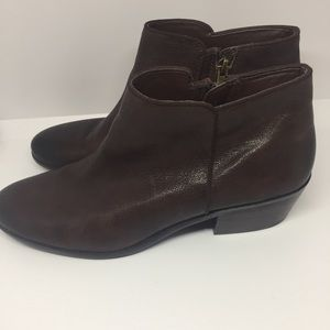 Sam Edelman Brown Leather Petty Ankle Boots